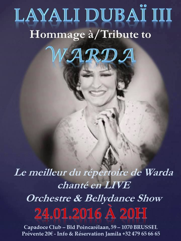 Hommage à Warda, show, Brussels
