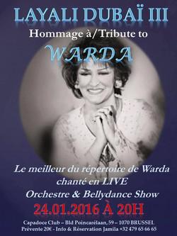 Hommage à Warda, show, Brussels