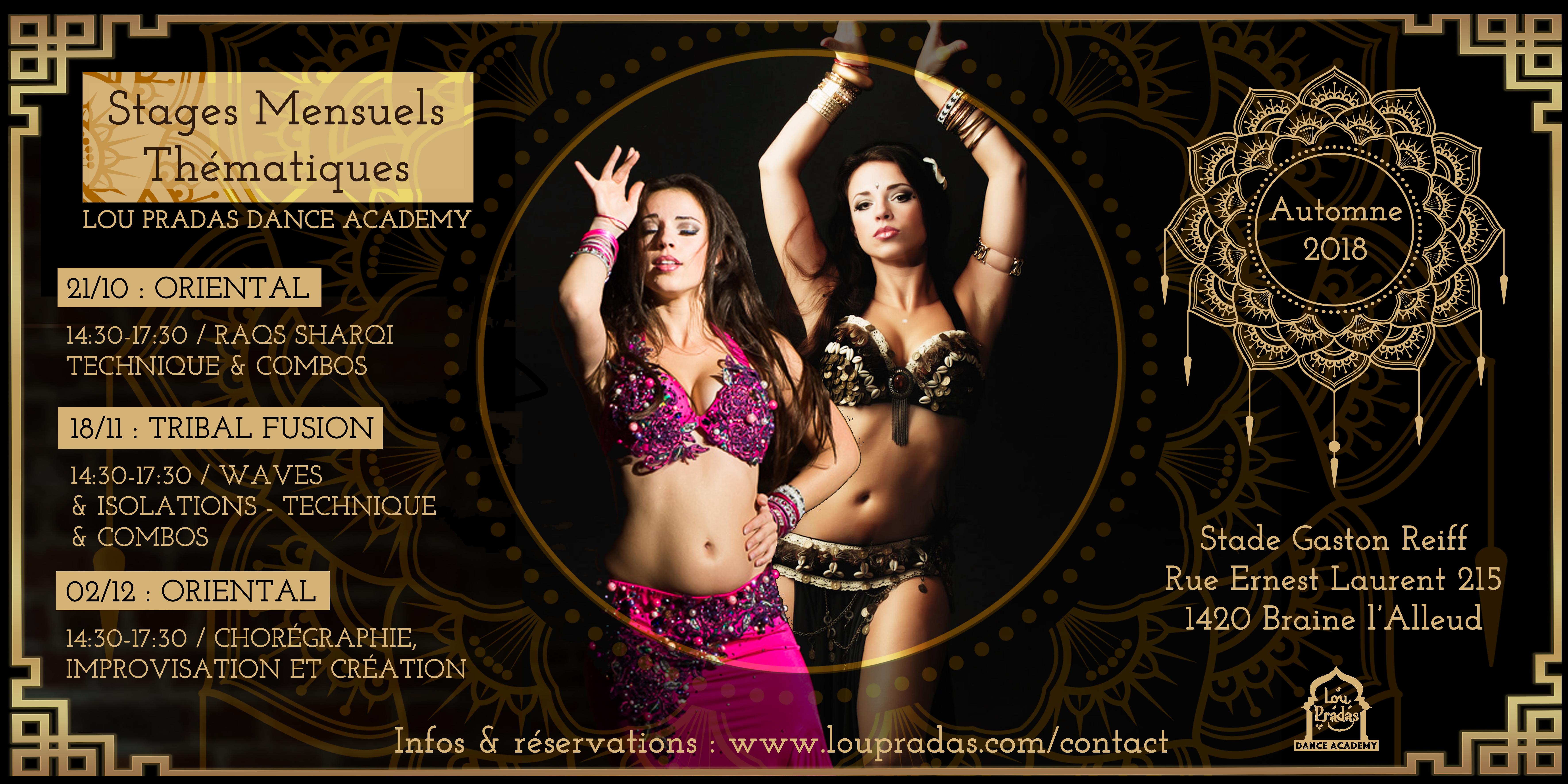 stages de danse orientale et fusion
