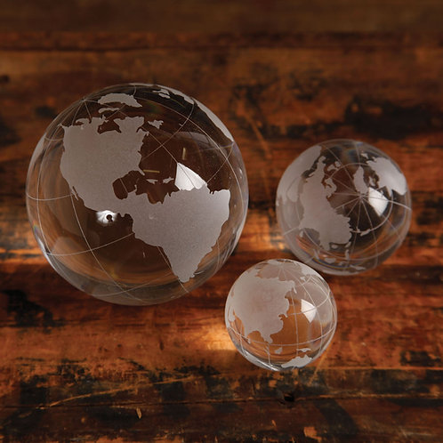 Medium Etched Glass Globes