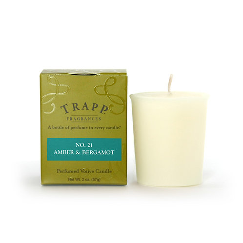 Amber & Bergamot Trapp Candle Votive