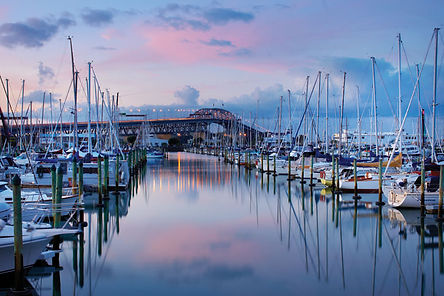 Yachts-At-Sunset-Westhaven-Marina-With-A