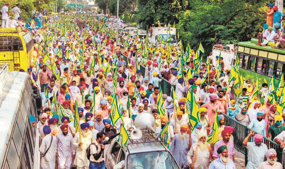 Farmers Protest Against the Bill
