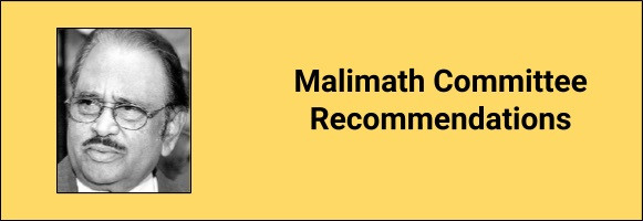 Malimath Committee Report
