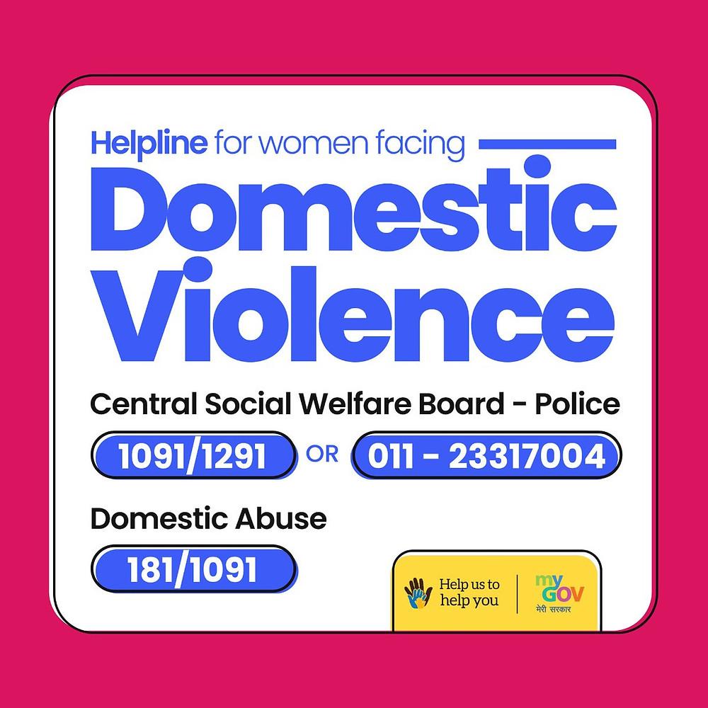 Helpline Number for Domestic Violence