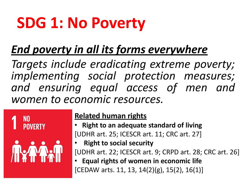 End poverty in all forms