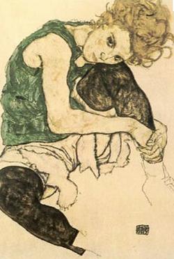 Edith Schiele, 1917