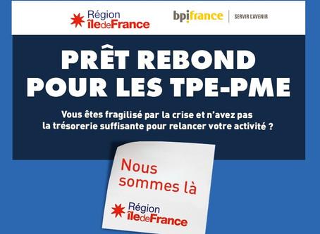 Aide aux entreprises franciliennes : prêt rebond à taux zéro