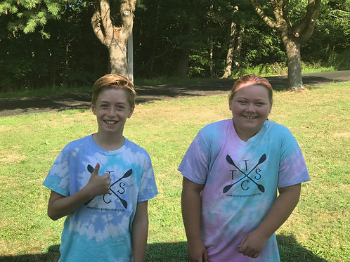 Short sleeve, Tie Dye T-shirt made by camp staff!