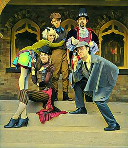 Delorean Express Cast (bright cartoony p