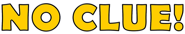 No Clue Logo [Cartoon Mustard].png