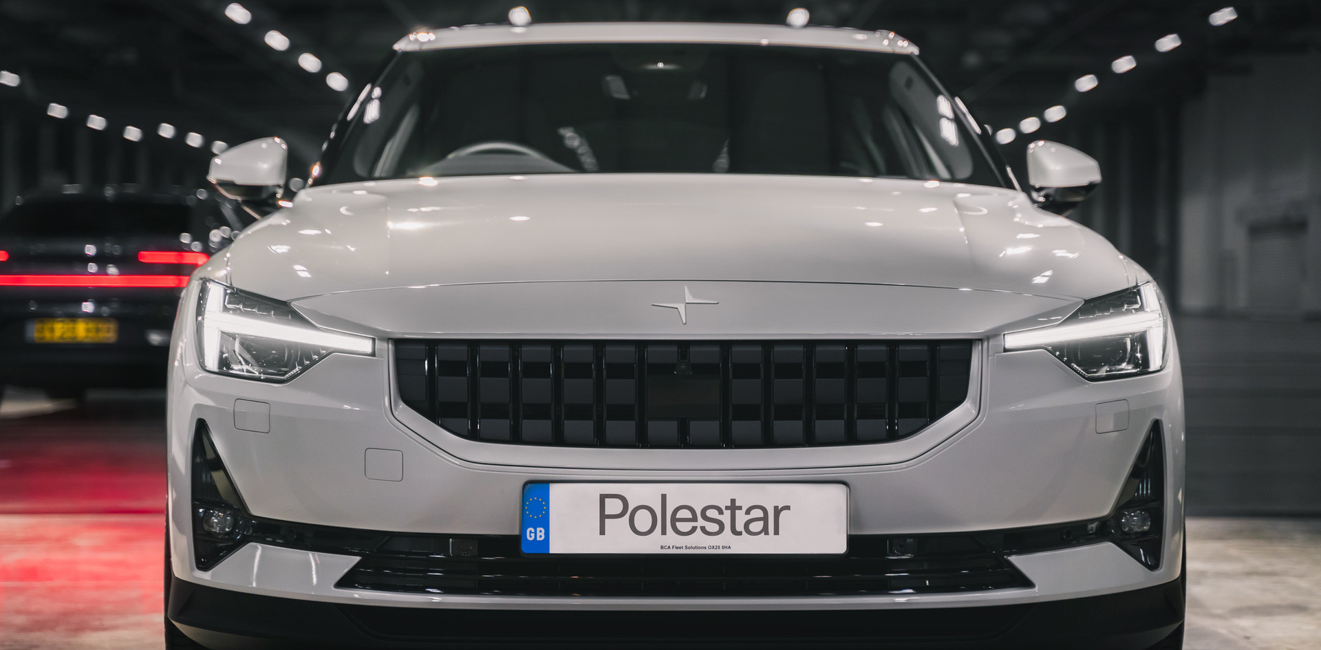 white polestar garage pixel lights
