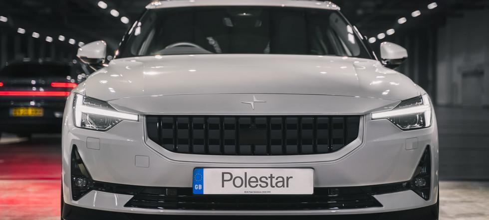 white polestar garage pixel lights