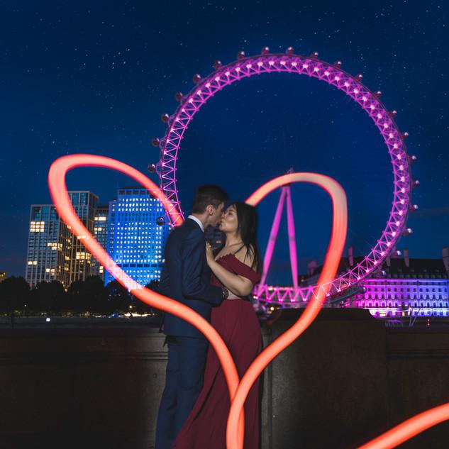 wedding London eye couple