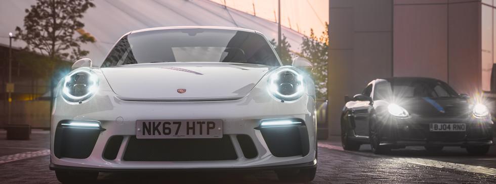Porsche 911 GT3 and Cayman S