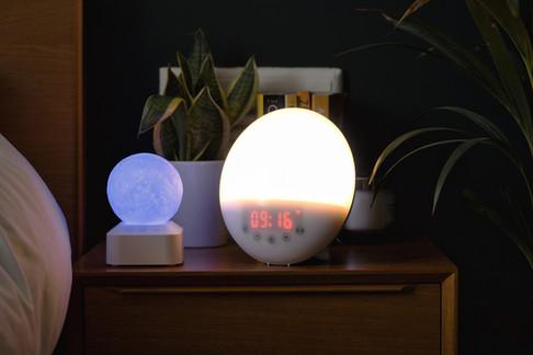 bedroom side table clock light.jpg