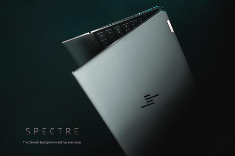 HP Spectre laptop photo features