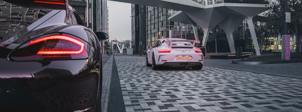 Porsche Caymand S and 911 GT3