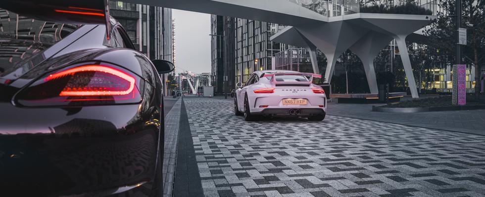 Porsche Caymand S and 911 GT3