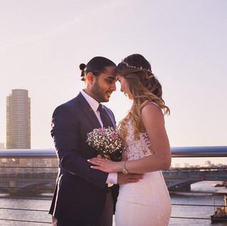 wedding Millenium bridge london