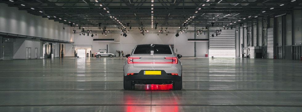 white polestar garage tail lights