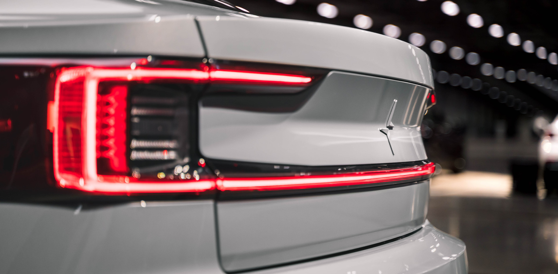 white polestar tail lights
