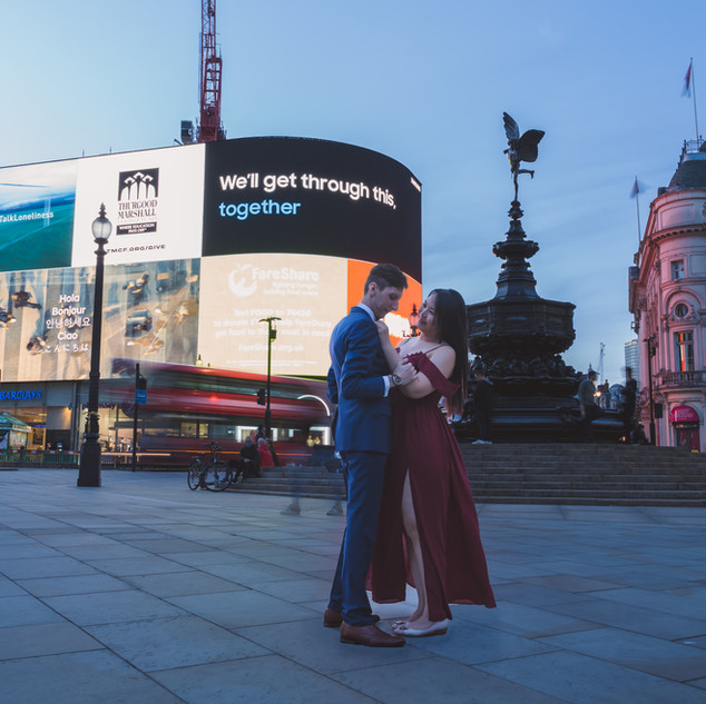 wedding piccadilly couple london