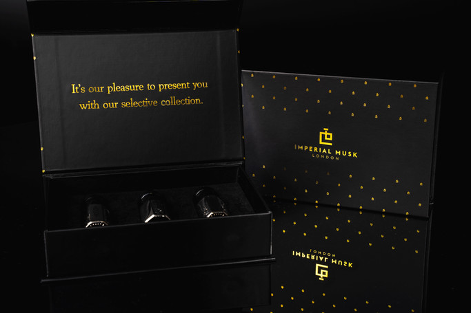 photo black gift box Imperial Musk