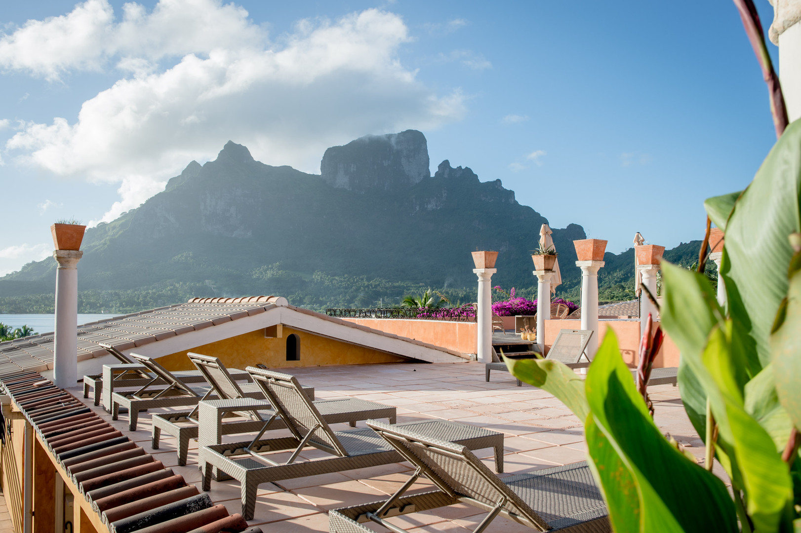 Take a sun bath on of the several terraces of the Villa and enjoy the views