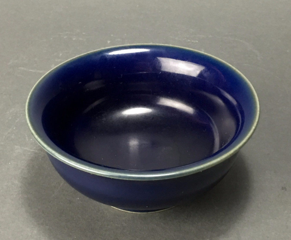 Blue Monochrome Bowl, Jiajing Mark and Period