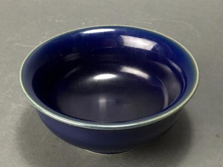 Blue Monochrome Jiajing Mark and Period Bowl - Sold!