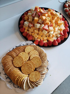 Cheese Display With Crackers