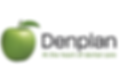 The Denplan Logo, a green apple with the words Denplan At the heart of dental care