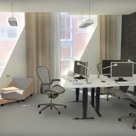 Interior for Kuggen, an office building in Gothenburg//Marzia Bergo for UNIT Ark