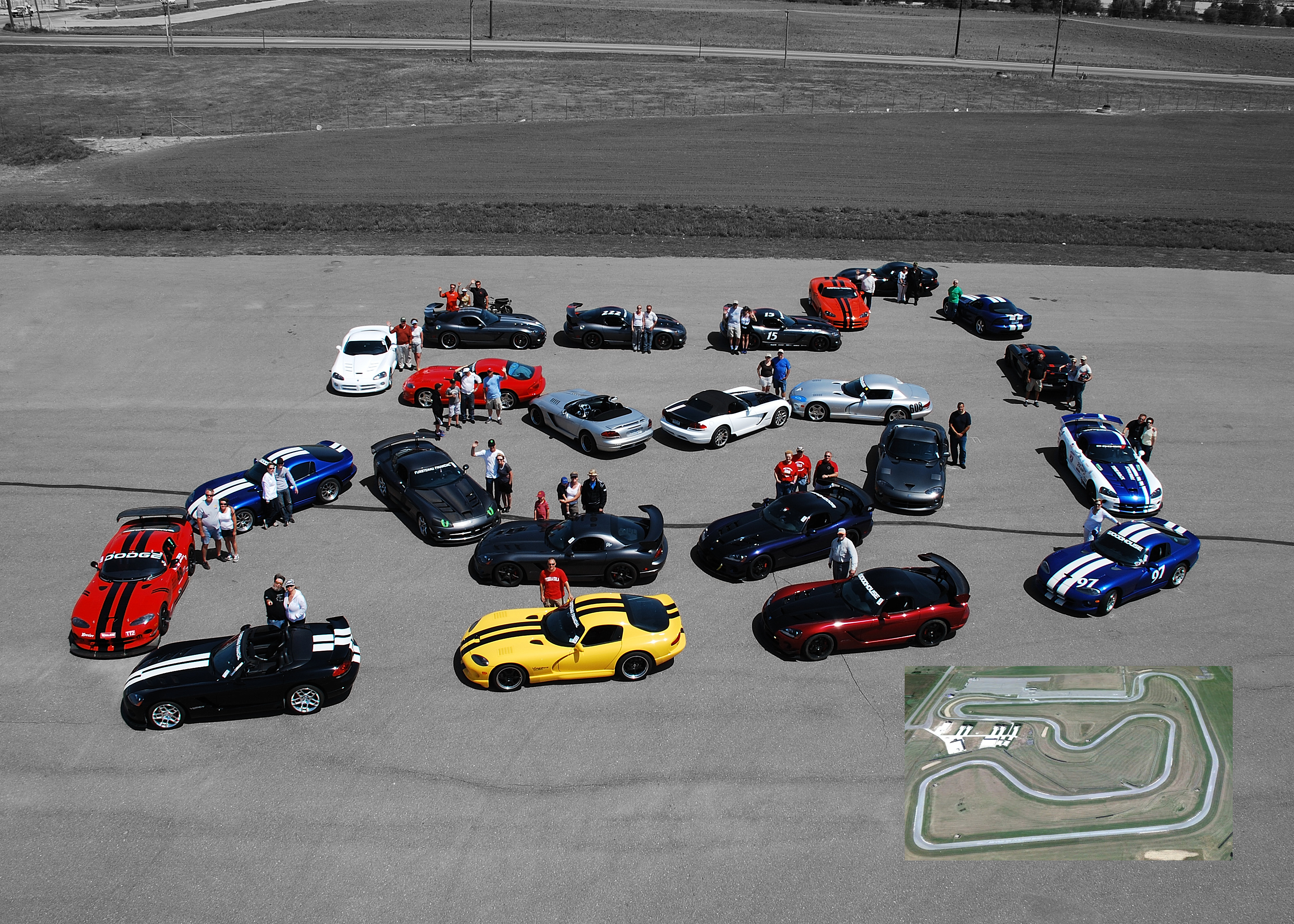 Viper Rendezvous 2012 Group Photo 5 x 7 edit with track map FINAL NO SPONSOR