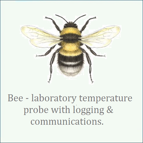 Bee. Laboratory grade precision temperature probe with logging & communications