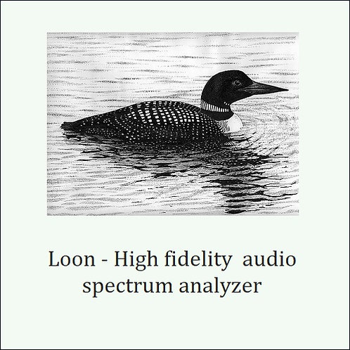 Loon. Professional grade audio spectrum analyzer.