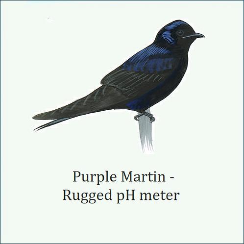 Purple Martin. Compact & battery powered pH meter.
