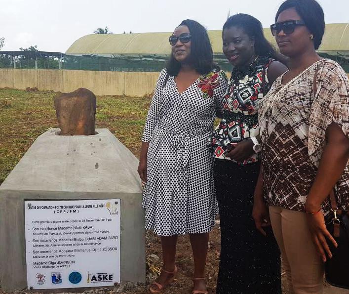 Marraine des Trophées Aské 2017 Cotonou