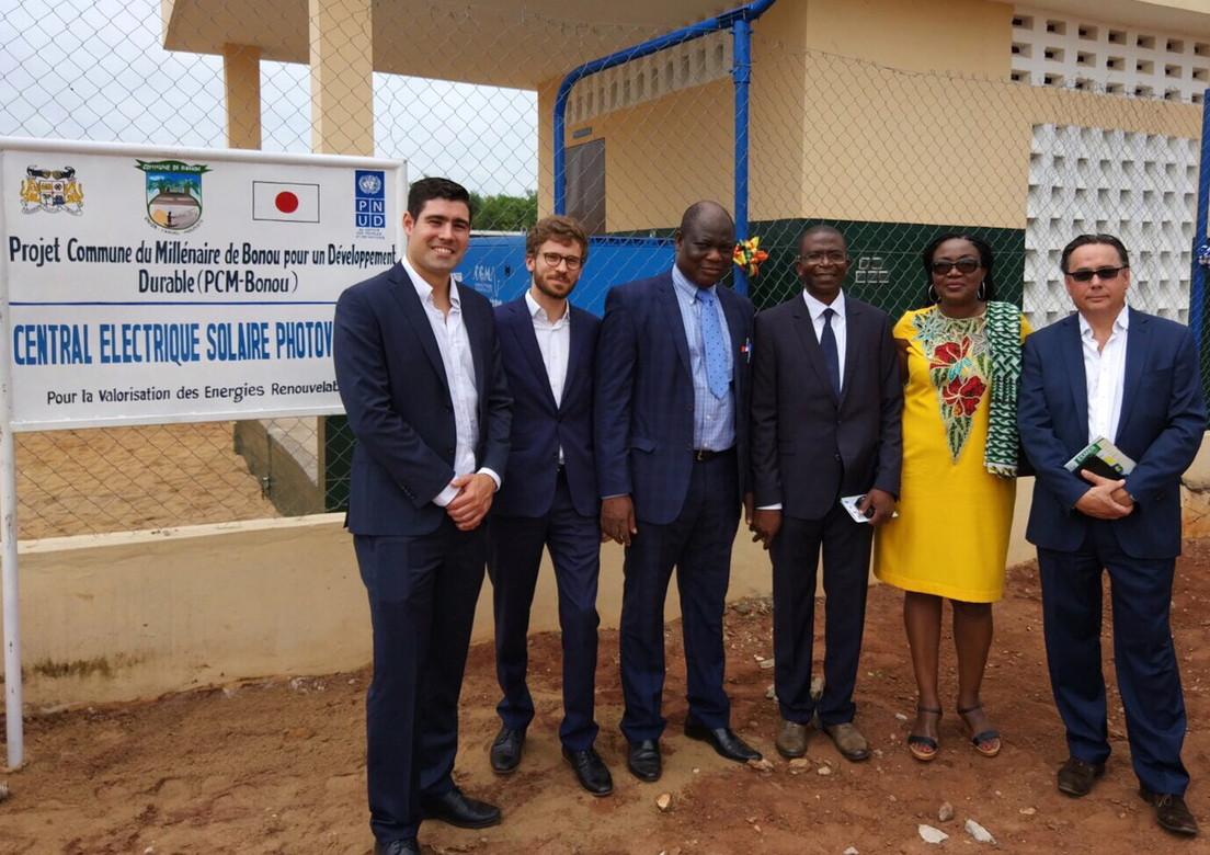 Inauguration Centrale électrique solaire à Bonou, Bénin