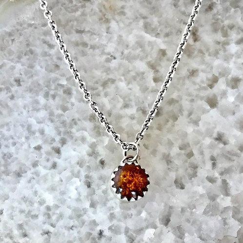Amber Single Stud Necklace - WHOLESALE