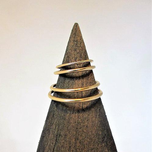 Gold Plain Stacker Ring - WHOLESALE
