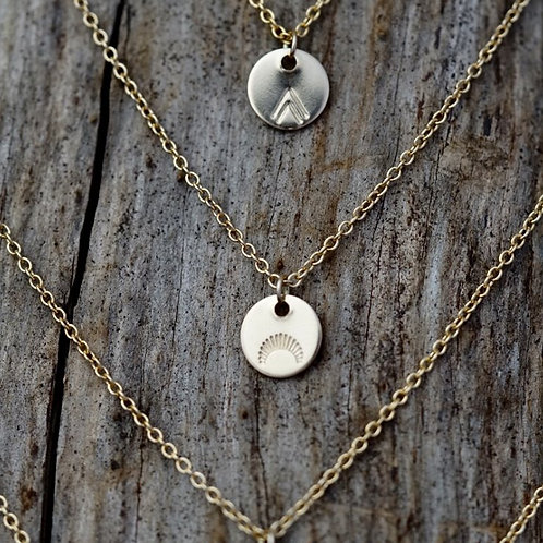 Rising Sun Gold Medallion Necklace