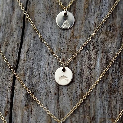 Rising Sun Gold Medallion Necklace