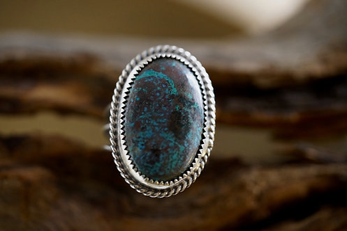 Chrysocolla Statement Ring