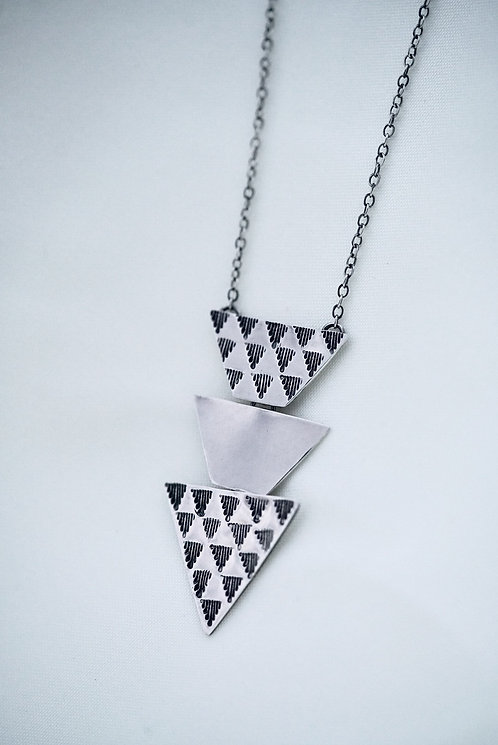 Triple Triangle Dangle Necklace