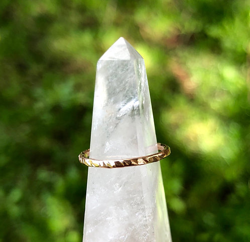 Rose Gold Heavy Textured Stacker Ring
