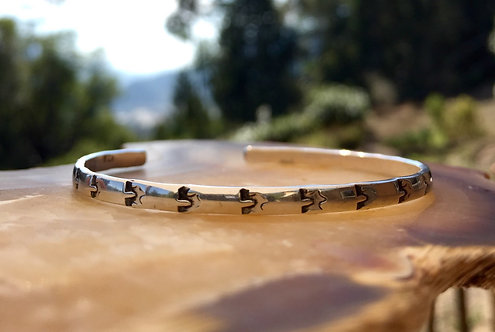 Horseshoe Stamped Bangle