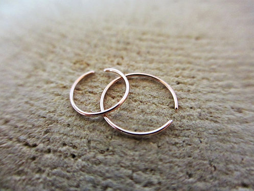 14 Karat Rose Gold Nose Ring - WHOLESALE