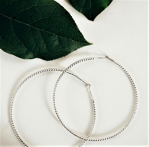 "8"" Twist Hoops - WHOLESALE"